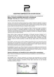 NUESTRAS EMPRESAS EN ACCIÓN SOCIAL Banco ... - cpzulia.org
