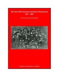 100 Jahre SPD-Ortsverein Garmisch-Partenkirchen 1907 – 2007