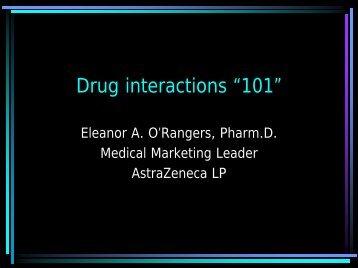 "Drug interactions ""101"" - Space Medicine Associates"