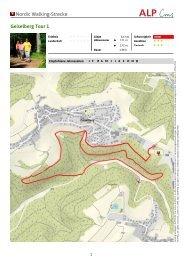 Nordic Walking-Strecke Geiselberg Tour 1