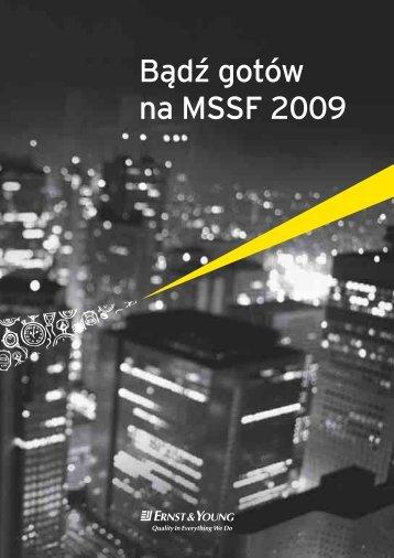 Bądź gotów na MSSF 2009 - Ernst & Young