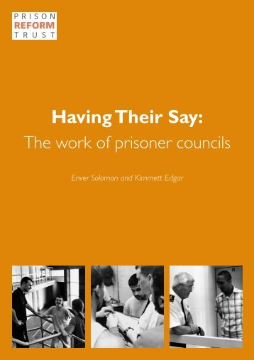 HAVING THEIR SAY LAYOUT 1 - Prison Reform Trust