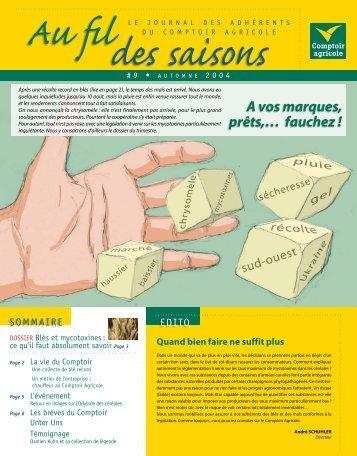 Fil Des Saisons #9 Automne 2004 - Comptoir Agricole