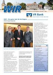 2007 – Ein gutes Jahr für die Region - VR Bank eG Bergisch Gladbach
