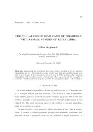 Triangulations of some cases of polyhedra with a small number of ...