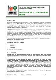 State of the Art – Country Profile SPAIN - CABERNET