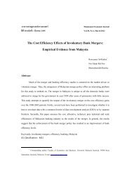 The Cost Efficiency Effects of Involuntary Bank Mergers: Empirical ...