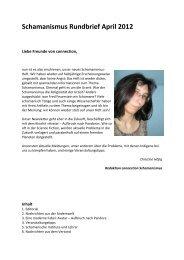 Schamanismus Rundbrief April 2012 - Connection