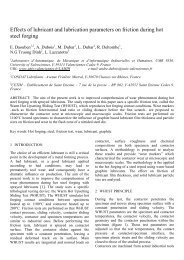 Effects of lubricant and lubrication parameters on friction during hot ...