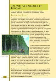 Thermal Gasification of Biomass Introduction