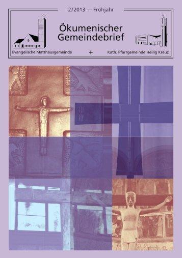 Ökumenischer Gemeindebrief 02 / 2013 - Evangelische ...