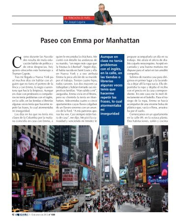 Paseo con Emma por Manhattan - El Siglo