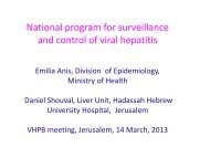 National program for surveillance and control of viral hepatitis
