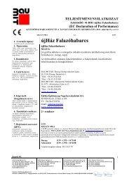 ujHáz Falazóhabarcs- TNyLokok - Baumit