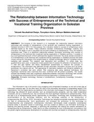 The Relationship between Information Technology with Success of ...