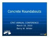 Concrete Roundabouts