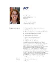 Viola Templin Diplom-Betriebswirtin (FH) Manager Tel. +49 (0 ... - PKF