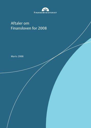 Aftaler om Finansloven for 2008 - Dansk Folkeparti