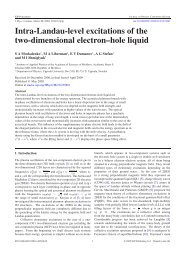 Intra-Landau-level excitations of the two-dimensional electron--hole ...