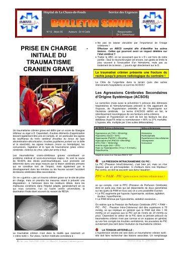 prise en charge initiale du traumatisme cranien grave - Swissrescue