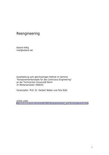 Gliederung der Ausarbeitung von Edzard Höfig zum Thema ...