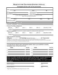 request for transfer (instructional) - Broward Teachers Union