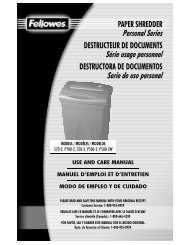 PAPER SHREDDER Personal Series DESTRUCTEUR ... - Fellowes