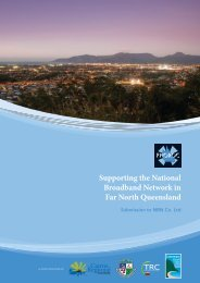 Supporting the National Broadband Network in Far North Queensland