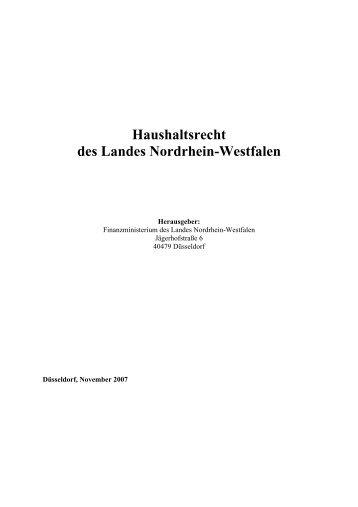 Landeshaushaltsordnung (LHO)