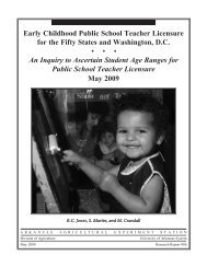 Early Childhood Public School Teacher Licensure for the Fifty States ...