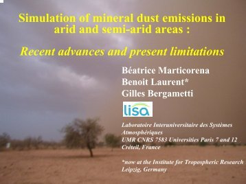 77 Marticorena Beatrice : DUST SOURCES