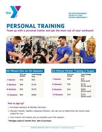 Personal Training SUMMER 2013 - Burbank Community YMCA
