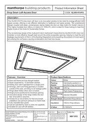 GL250-015-PU Drop Down Loft Door Insulated to 0.15 W/m²k