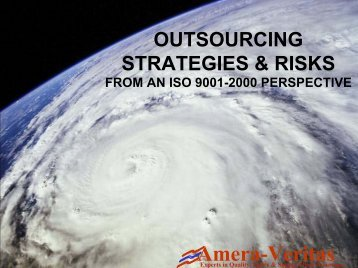 Outsourcing Strategies & Risks From An ISO 9001-2000 Perspective