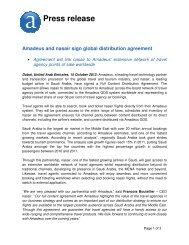 Amadeus and nasair sign global distribution agreement - Investor ...