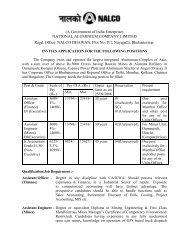 A Government of India Enterprise - National Aluminium Company Ltd.