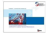Prozesse/Arbeitsabläufe auf dem EUROGATE Container Terminal ...