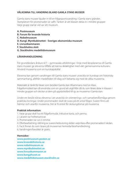 Frågesport Gamla Stan lärarhandledning pdf - Livrustkammaren