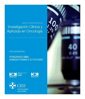 Investigación Clínica y Aplicada en Oncología - Centro Nacional de ...
