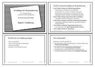 Grundlagen der Programmierung Kapitel 1 - Technische Universität ...
