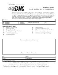 Bicycle Facilities Service Request Form - Transportation Agency for ...