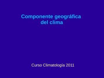 Componente geográfica del clima