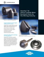 Hexaloy SA Silicone Carbide Wear Resistant Parts for the Mining ...