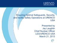 Ensuring Optimal Safeguards, Security, and Facility Safety ...