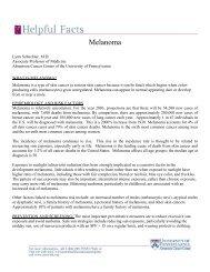 Melanoma and other Skin Cancers - Abramson Cancer Center