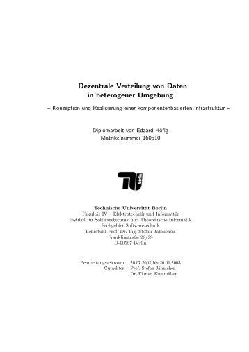 Dezentrale Verteilung von Daten in heterogener Umgebung