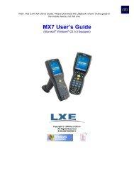 MX7 User's Guide - BlueStar