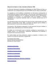 Situación de Salud en Cuba. Indicadores Básicos 1996 La ...
