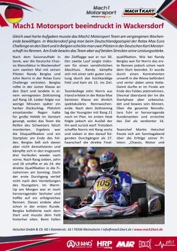 Download der Pressemeldung als PDF - Mach1 Kart