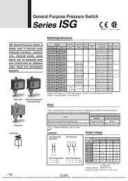 SMC Pneumatics ISG General Purpose Pressure Switch